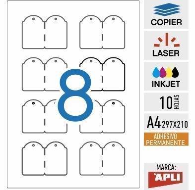 e8-11947-Etiquetas colgantes imprimibles adhesivas - 10 HOJAS - APLI ...